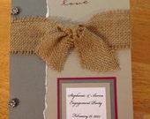 Wedding Card Holder. Bridal Shower Cards.Wedding Card Keepsake.Engagement Cards.Wedding.Engagement Party.Bridal.Card Keepsake Book