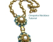 Tila Seed Bead Necklace Pattern // Cleopatra Necklace // Cubic Right Angle Weave  // Peyote Bead Pattern // 4mm 6mm Beads