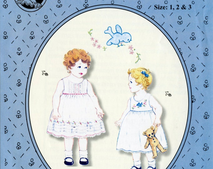 Summer Dress Pattern / Toddler Dress Pattern /Embroidered Dress Pattern /Tucked Dress Pattern / by The Old Fashioned Baby