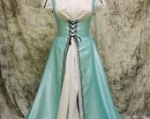 Aqua Blue Renaissance Costume-Halloween Costume-Medieval Dress-LARP-Ren Fair-Steampunk-SCA-Adult Costume-Medieval Fantasy Dress-Item #115