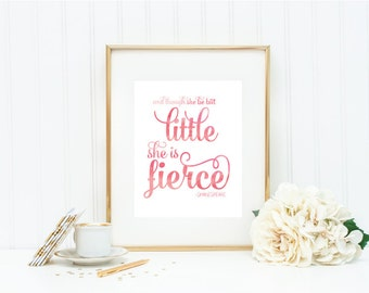 "Watercolor Art Print - ""Though She Be Little"" - Mirabelle Creations"