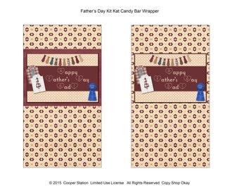 Printable Father's Day Kit Kat Chocolate Bar Wrapper