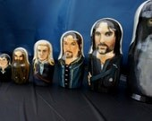 Set of Ten Lord of the Rings Nesting Dolls