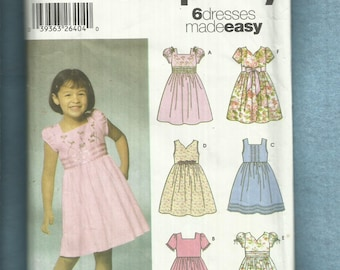 Simplicity 5704 Summer Time Party Dresses for Little Girls Sizes 3..4..5