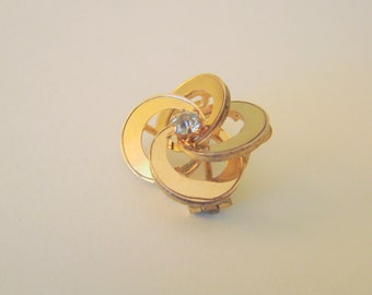 Victorian Love Knot Brooch / Paste / Gold Ornamentation / Antique / Vintage Jewelry / Jewellery