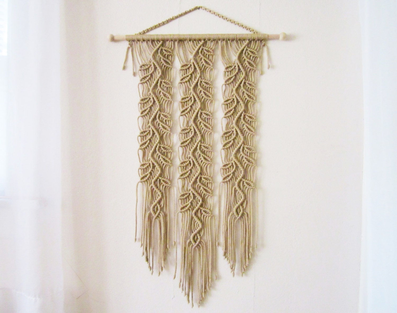 Macrame wall hanging sprigs 4 handmade macrame home decor for Home made decorative items