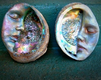Moon Abalone Shell, Altar Smudge, Mother of Pearl, By Shaping Spirit