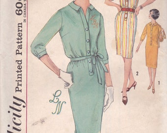 Casual 60s Dress Pattern Simplicity 4766 Size 12