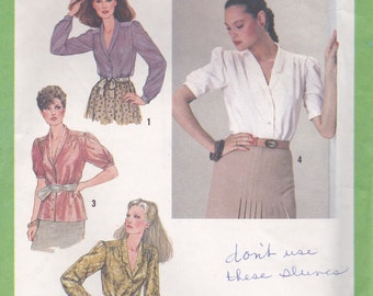 1970s Career Blouse Pattern Simplicity 9235 Size 10