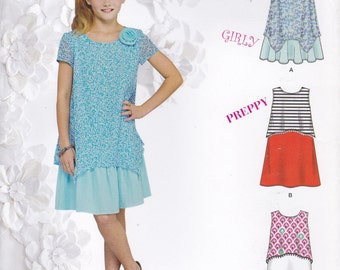 Girls Dress, Top & Shorts Pattern Simplicity 0849 1175 Sizes 8 - 16 Uncut