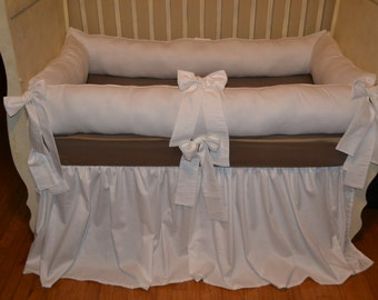 White Cotton Baby Bedding for a Neutral Linen Baby Bedding Look
