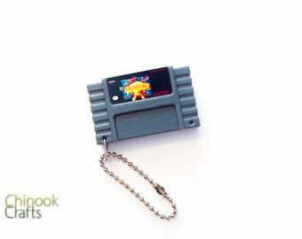 Earthbound SNES Cartridge Keychain