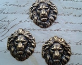 3 Lion Head Stamping Lion Ornament Steampunk Beast 3 PIECES Game Thrones Lion