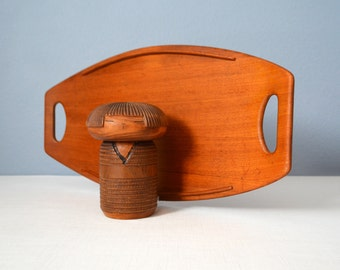 Early Dansk Staved Teak Serving Tray by Jens Quistgaard