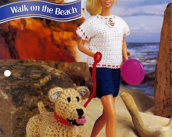 Walk On The Beach Crochet Pattern Annies Fashion Doll Crochet Club FCC13-01