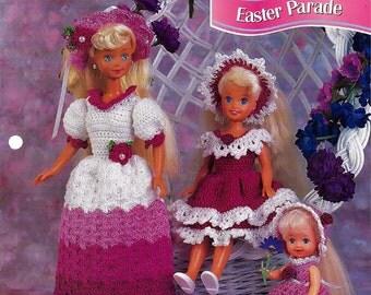 Easter Parade  Crochet Pattern Annies Fashion Doll Crochet Club FCC10-04