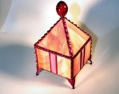 Jewelry Box, Stained Glass Box, Fairy Box, Pyramid Box