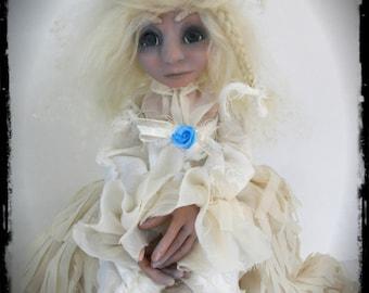 OOAK Ghost Art Doll - Evalina