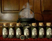 Tree of Life~ Set of 8 Herb Jar and Label Collections: CUSTOM HERB LABELS and Jars, Apothecary, kitchen witch, witchery, tree of life