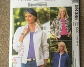 Misses/Miss Petite Jean Jacket Sewing Pattern, McCall's M4385 Sizes 10 - 12