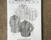Town & Country Jacket Pattern, Great Copy Pattern #2100, Ladies Lightweight Coat Size Extra Small - Extra Large