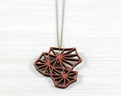 geometry blossom copper wood chain