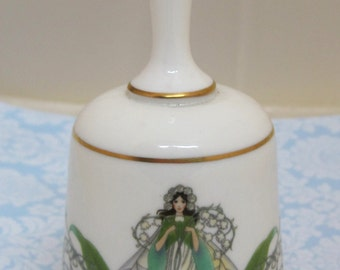 Vintage Lily of the Valley Fairy Bell 1979 Franklin Porcelain T10