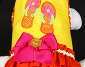 SAMPLE SALE:  Beach Flip Flops Dog Harness