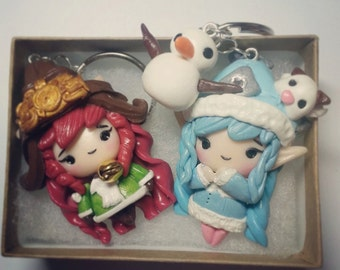 Lulu Charm inspired by League of Legends- hand sculpted, hand painted, polymer clay, kawaii chibi