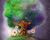 Woodland Illustration, Print Illustration, Whimsical Art, Fine Art Print, Woodland Decoration, Forest Illustration