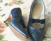 Vintage 1950s  | Blue High Heel dress shoes | By Marquise | Size 6