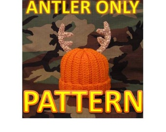 Instant Download - Crochet Baby Deer Antler PDF Pattern