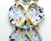 Darling Dolls Print Summer Bath Robe--Size 4T