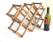 Vintage Wood Wine Bottle Rack
