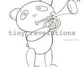 Panda Parade Coloring Sheets (PDF)