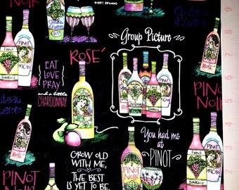 Pinot Noir - Cotton Fabric by Joy Hall