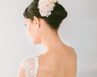 Silk Flower Hair Comb #110HC