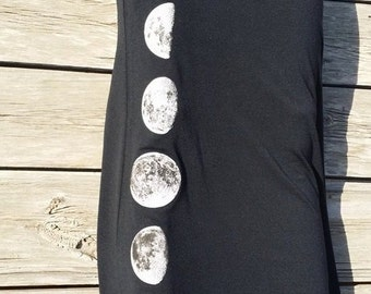 Moon Phases Black Maxi Skirt S/M/L