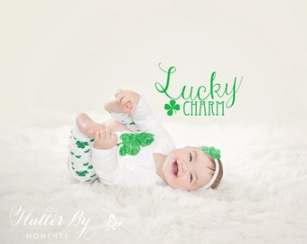 St Patrick's Day Outfit, Shamrock Onesie, Long Sleeved Onesie or Shamrock Shirt with Matching Headband, Shamrock Headband, St Patricks Girl