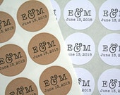 "For Alyson- RUSH Wedding labels, personalized stickers.  1.5"" round stickers, custom design"