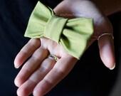 Hair bow, cotton papillon, green bow, hair accessories, pet bow