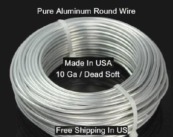 10 Ga / 50 Ft. Aluminum Wire Soft ,99.99% Pure Aluminum