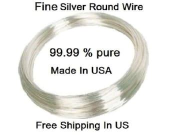 20 Ga Fine Silver Round Wire (SOFT)  1 OZ Coil