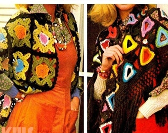 Vintage 70's Crochet Shawl - PDF Pattern - INSTANT DOWNLOAD