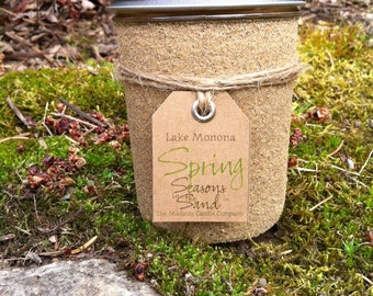 Lake Monona Madison Wisconsin Spring Soy Candle Seasons in the Sand March April May Memories