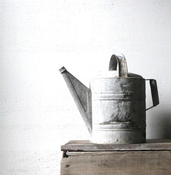 vintage watering can. modern farmhouse decor. vintage decor. rustic. gardening. gardener gift. gardening decor. vintage. refugeca2015