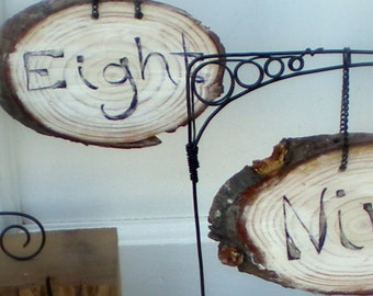 Wedding Table Numbers Rustic Parisian Old World Style Wooden Sign Boards Numbers 1-10 OOK