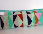 Pencil Case, Pencil Pouch, School Supply – Serape Tribal Mint - Toiletry & Cosmetics Bag