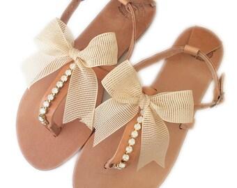 Beach Wedding Sandals. Wedding Sandals. Bridesmaid Sandals. Flat sandals. Boho sandals. Bridal shoes. Bridesmaids gift shoes.