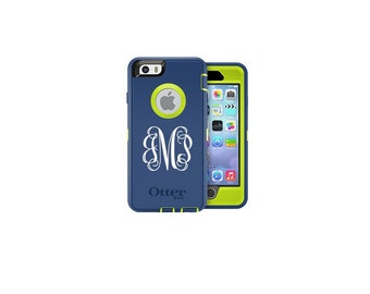 Otterbox Decal, Otterbox Monogram, iPhone Decal, iPhone Sticker, iPhone Monogram Decal, 2 inch Monogram Decal, Vinyl Decal, Laptop Decal